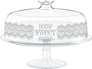 Cosmoplast-HomeSweetHome - Soporte con Tapa, plástico, Blanco, 30x 30x 21cm
