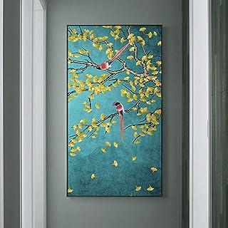 Pinturas en lienzo Urracas Flores Pájaros Carteles e impresiones Estilo chino Cuadro de arte de pared para sala de estudio...