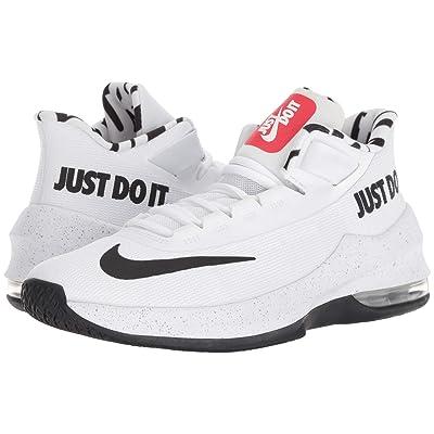 Nike Kids Air Max Infuriate II Just Do It (Little Kid/Big Kid) (White/Black/Light Crimson/Wolf Grey) Boys Shoes