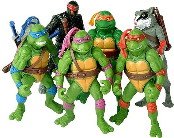 6 PCS Set Teenage Mutant Ninja Turtles Action Figure - TMNT Action Figures - Ninja Turtles Toy Set - Ninja Turtles Action Figures Mutant Teenage