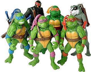 Juego de 6 figuras de acción de las Tortugas Ninja Mutant Teenage Mutant Ninja Turtles - Figuras de acción TMNT - Tortugas Ninja Tortugas Mutante Teenage