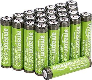 Amazon Basics AAA oplaadbare batterijen met hoge capaciteit 850 mAh (pak van 24 stuks) voorgeladen
