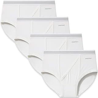 INNERSY Ropa Interior para Hombre Slips de Buena Elasticidad Briefs de Algodón Peinado Pack de 4