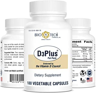 D3Plus - 180 Vegetable Capsules by Bio-Tech Pharmacal