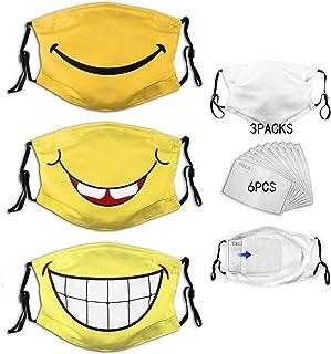 3pcs Face Mask With Filter Pocket Washable Face Bandanas Balaclava Reusable Fabric Masks For Men Women