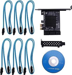 OVBBESS 6-Port SATA III PCIe Card, PCIe SATA III Controller Card to 6GB/S Internal Converter PCI SATA 3.0 Expansion Card