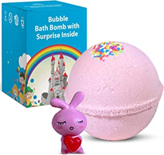 Natural Bath Bomb with Surprise Toy Inside (Different Toy) (Bunny with Heart)