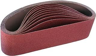 IVY Classic 43060 Flex-Abrasive 3-Inch x 21-Inch 36 Grit Extra Coarse Resin Cloth Aluminum Oxide Sanding Belt, 10-Pack