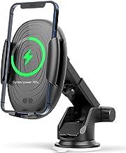 شارژر بی سیم 15W ، EISTAKAO شارژر سریع ماشین بی سیم Mount 360 درجه قفل خودکار برای iPhone 13 iPhone 12 ، iPhone 11 ، iPhone X ، Samsung Galaxy Note20 S20 Note10 و موارد دیگر