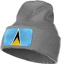 MASDUIH Rich Cotton Flag of Saint Lucia Beanie Caps Warm Soft Hats Knit Skull Caps