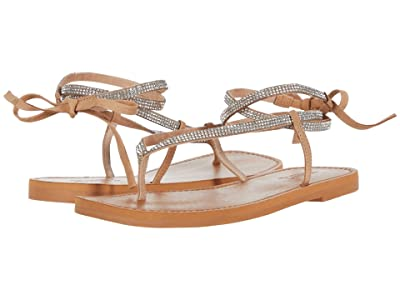 Schutz Abdula (Crystal/Honey Beige Malha Strass/Nubuck) Women