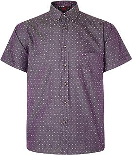 Kam Mens Dobby Weave Casual Short Sleeve Shirt Grape 6XL