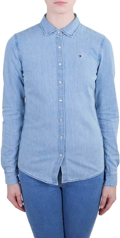 Tommy Hilfiger Shirt LS W2 Blusa, Azul (Elfira 911), X-Small ...