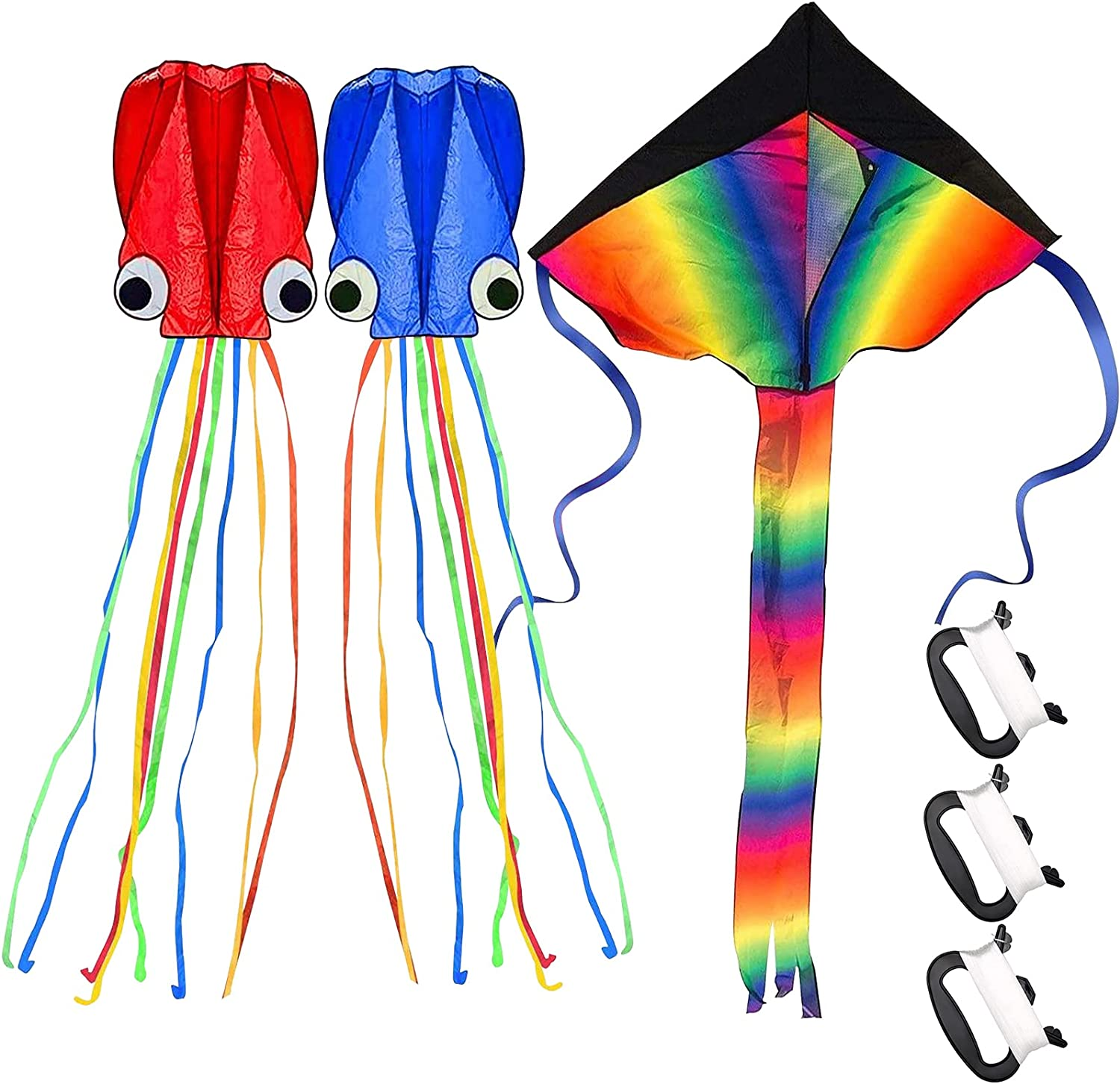 mortd Kites for Kids free Easy Limited time cheap sale to 3 Fly Large Del Pack Rainbow