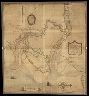 Map: 1751 A plan of the inlets & rivers of Savannah & Warsaw in the Province of Georgia|Chatham County|Chatham County Ga|Georgia|Savannah River|Savannah River Ga And SC|South Carolina|Wilmington River