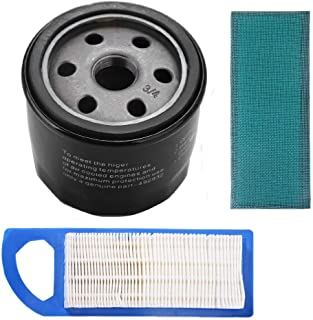 Podoy 492932 Oil Filter AM125424 wtih Gy20573 Air Filter Tune Up Kit for Briggs Stratton 491056 John Deere GY20577 15.5 17 17.5 HP 5127A 5127B Intek Lawn Mower 49293
