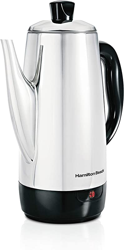 Hamilton Beach 12 Cup Electric Percolator Coffee Maker Stainless Steel Quick Brew 40616