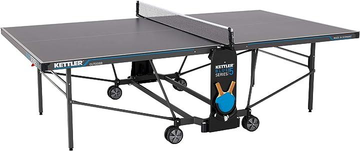 Tavolo da ping pong professionale per esterni, qualità torneo kettler k5 B08DP48SG6