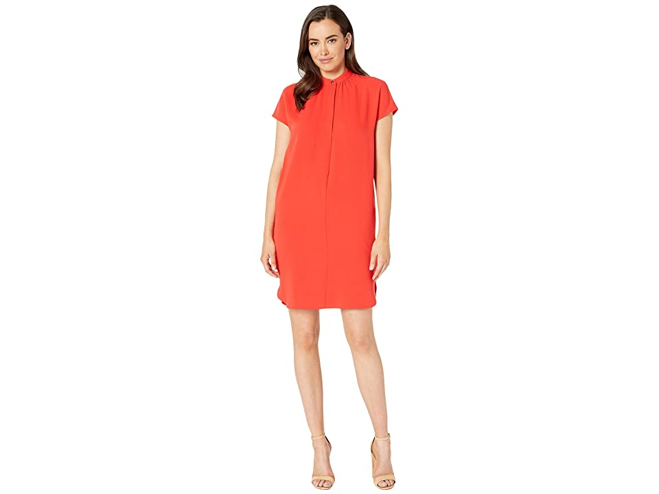 LAUREN Ralph Lauren Crepe Shift Dress (Pink) Women