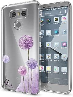 NALIA Funda Carcasa Compatible con LG G6, Motivo Design Movil Protectora Ultra-Fina Silicona Cubierta, Goma Gel Estuche Telefono Bumper Ligera Cover Smart-Phone Case, Designs:Dandelion Pink Rosa