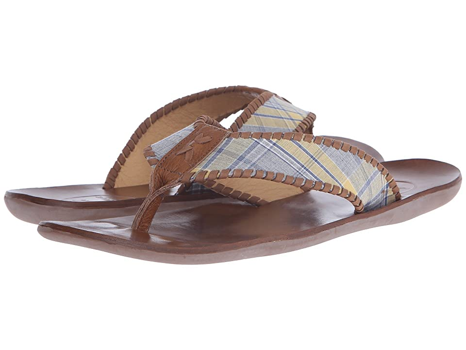 Jack Rogers Sullivan Plaid (Yellow/Navy) Men