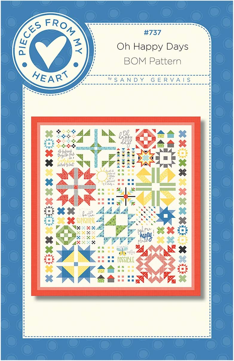 Riley Blake Designs Max 48% OFF Oh Happy Pattern Day Free Shipping Cheap Bargain Gift Quilt