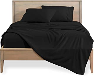 Bare Home Kids Twin Sheet Set - 1800 Ultra-Soft Microfiber Bed Sheets - Double Brushed Breathable Bedding - Hypoallergenic – Wrinkle Resistant - Deep Pocket (Twin, Black)