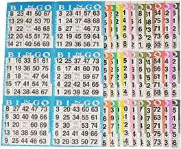 American Games Bingo Paper Game Cards – 6 Card – 10 Bingo Sheets – 100 Books – 10 Colors, Made in USA