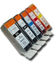 The Ink Squid 5 Chipped Compatible High-Capacity Canon PGI-525 & CLI-526 Ink Cartridges for Canon Pixma MG6150