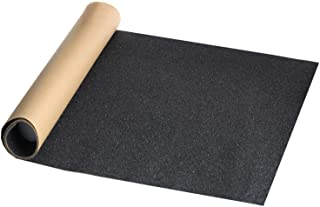 Bestkiy Black Skateboard Deck Grip Tape Sheet 45x11 inch, Bubble Free and Waterproof Longboard Scooter Griptape Sandpaper for Rollerboard, Stairs, Gun, Pedal, Rifles, Wheelchair, Steps