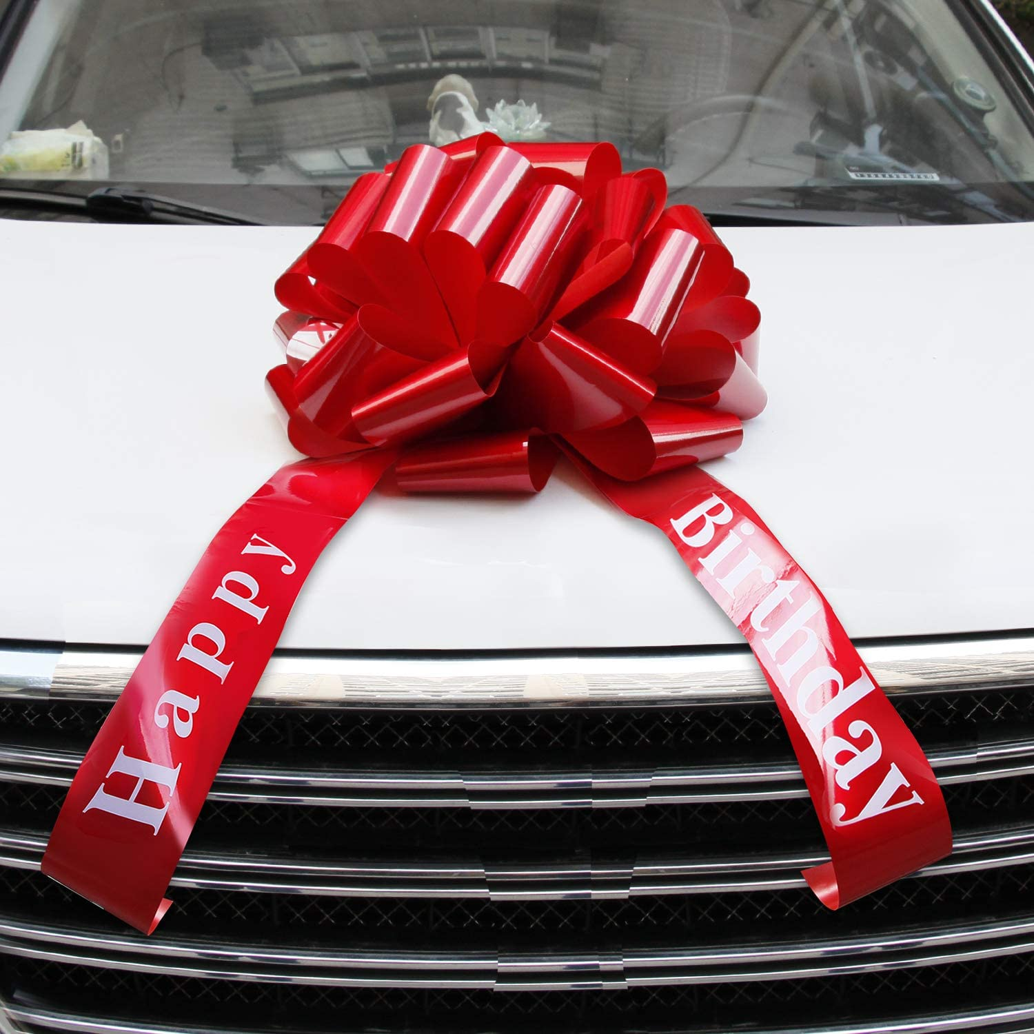 Vindar Big Red Car Bow Giant Happy Birthday Gift Wrapping Car Ribbon Bow Gift Wr