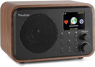 Internet radio met wifi en Bluetooth - Audizio Venice retro radio met wekkerradio, accu en afstandsbediening - Hout