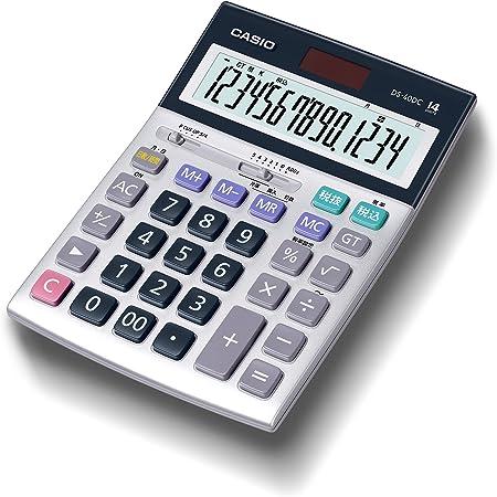 カシオ 本格実務電卓 14桁 日数&時間計算 グリーン購入法適合 デスクタイプ DS-40DC