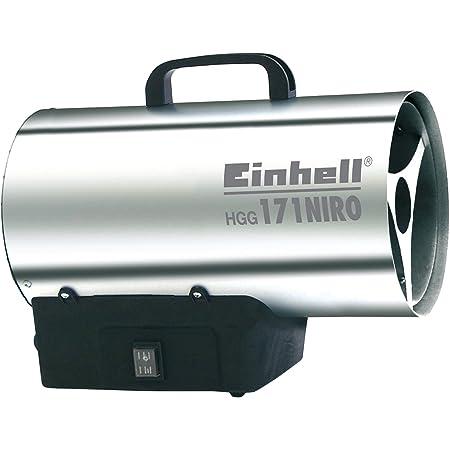 Einhell Heißluftgenerator HGG 171 Niro (17 kW, 700 mbar Betriebsdruck, 1000 m³/h Luftvolumenstrom, Piezozündung, Rückbrandsicherung, Turbo-Ventilator)