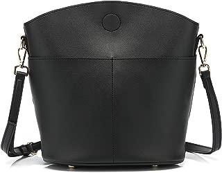 Crossbody Bag for Women Bucket Bags PU Leather Hobo Handbags Shoulder Purse 202701 BLACK