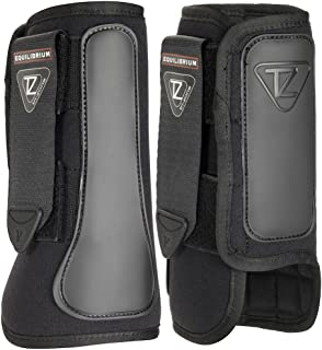 Equilibrium Tri-zone Airlite Impact Sports Boots Front Black Fits 15hh-16.2hh From Coltsfoot Equestrian