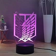 Lamchim Attack on Titan Design Night Light LED Anime bureaulamp decoratie voor slaapkamer, 16 kleuren Touch Remote Child L...