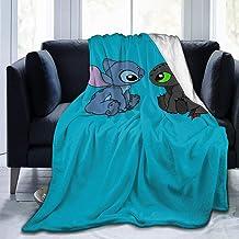 FFFFFFFFFF Sti-TCH Fart Micro Fleece Couvertures Couettes Comfy Ultra-Soft Literie Sofa Mens Gift 50  x40 Black