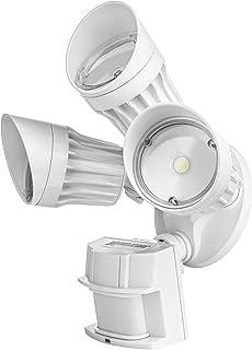 Hyperikon LED White Security Light with Motion Sensor, 30W (125 Watt), Outdoor Flood Light Dusk to Dawn, 5000K, 3 Head IP65