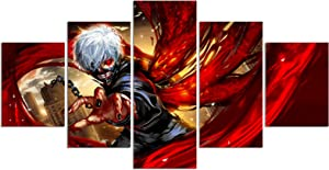 Tokyo Ghoul Poster Anime Kaneki Ken Print on Canvas Painting Wall Art for Living Room Decor Boy Gift (Unframed, Q-Tokyo Ghoul)