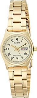 Casio Womens Quartz Watch, Analog Display and Stainless Steel Strap LTP-V006G-9BUDF
