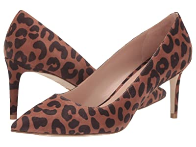 Stuart Weitzman Leigh 70mm Pump (Cappuccino Cheetah Suede) Women