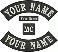 Rocker Patch - Custom Embroidered Sew on Tag, Badge 12