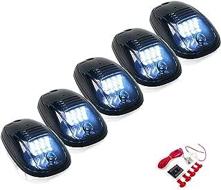 5 Pcs Cab Marker Lights w/ 16 White LED For 2003-2017 Dodge Ram