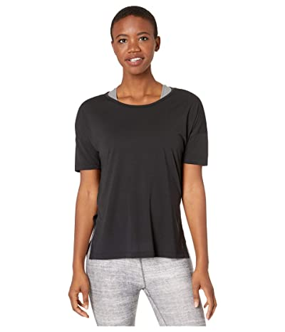 Nike Yoga Layer Short Sleeve Top (Black/Dark Smoke Grey) Women