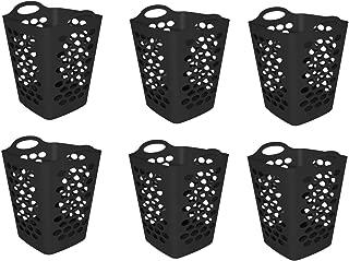 Mainstays 2 BU Flex Laundry Hamper, Black - 6 PIECES