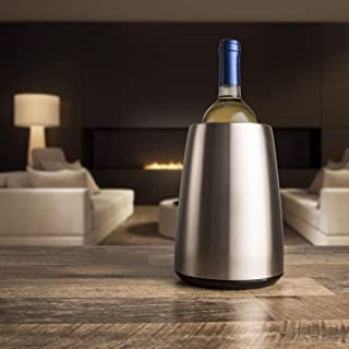 Vacu Vin Cubitera enfriadora para Vino Acero INOX, Inoxidable, Ø 14,5 cm, 20.5 cm