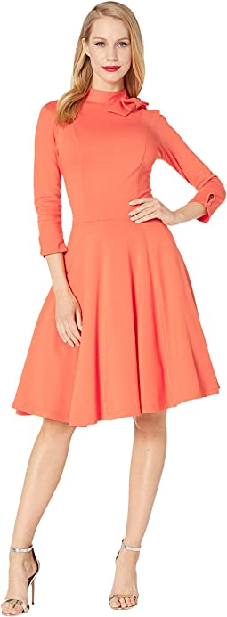 75755d2b481 Plus Size 1940s Style Stretch Sleeved Adelia Wiggle Dress.  88.2MSRP   98.  Pantone x Unique Vintage Bow Neck Knit Dress