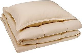 Amazon Basics Comforter Set, Twin / Twin XL, Beige, Microfiber, Ultra-Soft