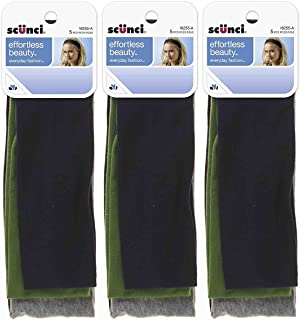 Scunci Effortless Beauty Wide Stretch Basic Headwraps - 15 Count